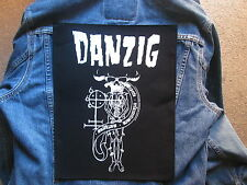 DANZIG 18 beast BACKPATCH BACK PATCH   LARGE / HEAVY METAL BLACK