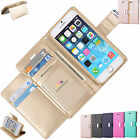 New Wallet Flip PU Leather Phone Case Cover For iPhone Samsung Galaxy