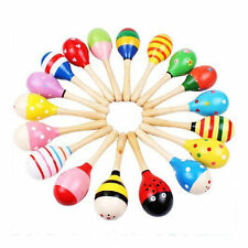 Baby Kids Sound Music Gift Toddler Rattle Musical Wooden Sand Hammer Toys 1Pc