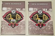 2016 Rochester Red Wings pocket schedules calendars TWO