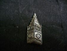 Small Vintage Cast Pewter Big Ben Clock Brooch Pin