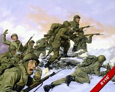KOREAN WAR 65th INFANTRY DIV US ARMY OIL PAINTING ART PRINT ON REAL CANVAS