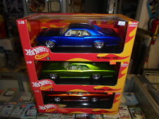 Hot Wheels Classics Lot x3 Pontiac GTO Green Blue Orange 1:18 Limited New NIB