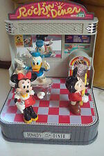 Takara Japan Disney Donalds Diner sound activated Mickey Minnie  figures show