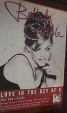 "40x60"" HUGE SUBWAY POSTER~Belinda Carlisle The Go-Go's 1996 Love In Key of C NOS"