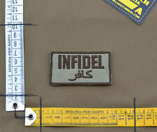 """Ricamata / Embroidered Patch """"Infidel"""" Coyote Tan with VELCRO® brand hook"""
