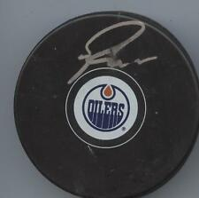 RYAN NUGENT-HOPKINS SIGNED EDMONTON OILERS HOCKEY PUCK w/ COA