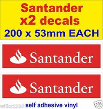 2x Santander Racing Car Motorcycle decals van truck slot car sticker vw dub