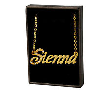 "Name Necklace ""SIENNA"" - 18ct Gold Plated - Accessories Jewellery Gifts For Her"