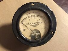 Vintage Jewell Pattern No 78 AC Milliamperes Meter Measures 0-5 MA Gauge