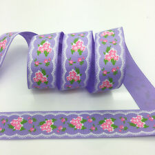 NEW~ 5 Yards 1Inch 25mm Wide Printed Grosgrain Ribbon Hair Bow DIY Sewing #A129
