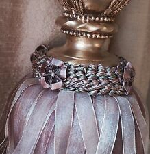 Large Organza Ribbon Curtain Tieback Lavender Global Delivery REDUCED FROM £35