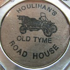 Vintage Houlihan's Saginaw, MI Wooden Nickel Token - Mich. Michigan