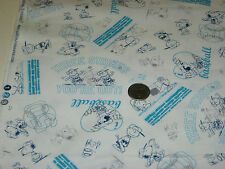 Quilting Treasures quilt fabric All Star Snoopy & Friends 3 STRIKES turq 2 yds