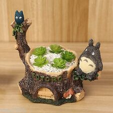 Resin Totoro Garden cart Cacti Succulent Plant Pot Flower Planter Mini Garden