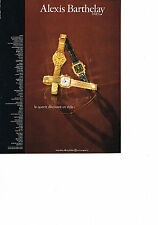 PUBLICITE  1981   ALEXIS BARTHELAY    montre ultra plate