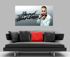 "HEADHUNTERZ BORDERLESS MOSAIC TILE WALL POSTER 47"" x 25"" HARDSTYLE"