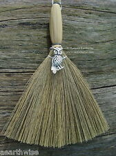 BESOM BROOM & CHARMING OWL 170 mm Wicca Pagan Witch Goth WITCHES' ALTAR BROOM