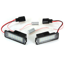 2x Error Free LED License Plate Light For VW GOLF MK 4 5 6 Passat EOS Scirocco