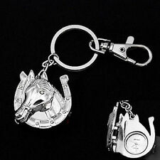 HORSE & WESTERN JEWELLERY LADIES WOMENS HORSE THEME KEY RING KEY CHAIN WATCH