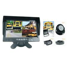 Rearview Backup Camera & Video Monitor System Kit, Quad View Split Screen Cam