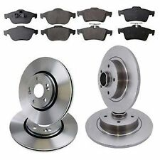 QUALITY FRONT REAR BRAKE DISCS & PADS RENAULT LAGUNA MK2 WITH BEARING & ABS RING