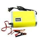 Motorcycle Car Auto 12V 6A Battery Charger Intelligent Charging Machine Yellow