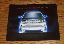 Original 2002 Buick Rendezvous Deluxe Sales Brochure 02