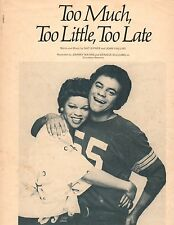 Johnny Mathis And Denise Williams Too Much,Too Little Piano/Guitar Sheet Music