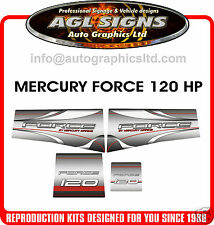MERCURY MARINE FORCE 120 HP DECAL KIT (90's), sticker graphic reproductions