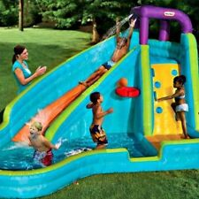 Water Slide Inflatable Pool Bouncer Kids Outdoor Basketball Backyard Wet Fun Toy