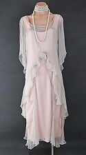 PINK Nataya Dress Gatsby Victorian 10920's style Formal Bridal wedding L NWT