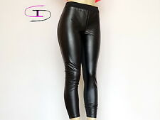 NWT VICTORIA'S SECRET PINK YOGA FAUX LEATHER LEGGINGS  LARGE  1122C