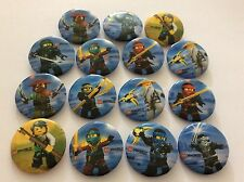 Party Bag Fillers X 15 NINJAGO BADGES