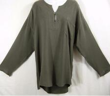 TIENDA HO~GRAY~MOROCCAN COTTON~Mohamed Kurta Top~L/S~Hi-low~OVERSIZED~OS~PLUS