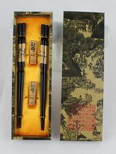 Nuovo 2 paia Cinese Handmade Di legno Vintage Bacchette E Staffe Set Regalo