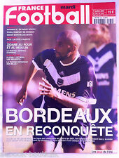 FRANCE FOOTBALL 24/07/2001; Bordeaux/ Zidane/ Platini/ Sedan/ Marseille/ Roma