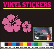 "4"" HIBISCUS Flower tribal hawaiian window car truck vinyl sticker decal"