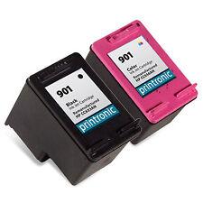 2PK HP 901 Ink Cartridge CC653AN CC656AN for OfficeJet G510a G510g G510n J4524