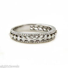 1.54 Carat Diamond Eternity Band Ring in White Gold Over 925 Sterling Silver