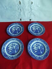 English Ironstone Tableware OLD WILLOW 4 x Side Plates