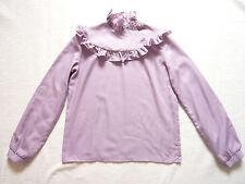 Mauve pie crust collar blouse/shirt/top by C&A Vintage 1980s Size 6/8