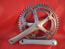 CLASSIC SR SAKAE GXC ALLOY CHAINSET 1989 - 42/52T STEEL CHAINRINGS - GREY CRANKS