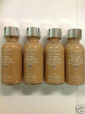 ( LOT OF 4 ) L'Oreal True Match Super Blendable Foundation #C7 CREAMY BEIGE NEW.