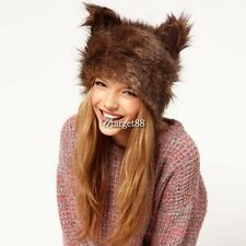 New Fashion Womens Russian Rabbit Ear Faux Fur Cap Winter Warm Beanie Hat UTAR