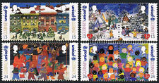 Guernsey 560-563 pairs, MNH. Christmas. UNICEF, 50th anniv. 1995