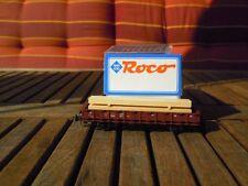 Roco 46031 C Bouteille Rungenwagen R20 DB Ep.3 avec Bois de cheminée chargé avec