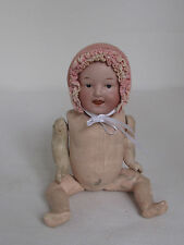ANTIQUE HEUBACH BISQUE BABY DOLL 9""