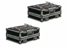 (2) Odyssey FR1200E ATA Flight Ready Pro DJ Equipment Turntable Transport Cases