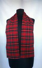 Red tartan scarf Bay City Rollers Rod Stewart punk emo Scottish fancy dress